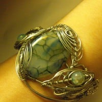 Fairy Pool Agate Cuff | HauteNouveau - Jewelry on ArtFire