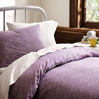 Mini Dot Bedding Bundle, Plum