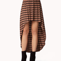 High-Low Striped Skirt | FOREVER 21 - 2053787739