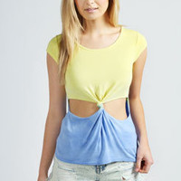 Emily Cut Out Knot Front Tee