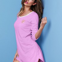 Signature Cotton Three-quarter Sleeve Sleepshirt