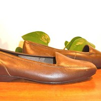 "TRANQUIL! BELLINI ""Hobby"" Brown Leather Slip On Loafers!!! SIZE 7M"