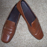 DESIGNER RALPH LAUREN SHOES Carmel Brown leather loafer Has RLL LOGO sz 7B NICE