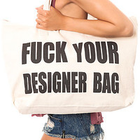 *MKL Accessories The F Your Designer Bag in Beige : Karmaloop.com - Global Concrete Culture