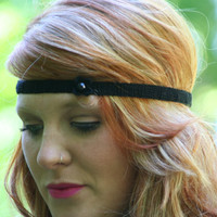 Black Boho Headband Crochet Hair Fashion Elastic Closure Headband