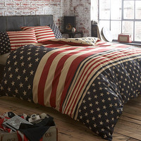 Navy 'Stars and Stripes' bed linen at debenhams.com