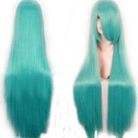 "40"" Crypton Future Media Vocaloid Straight Cosplay Wig (Model: Jf010078) (Cyan)"