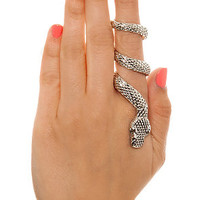 *MKL Accessories The Snake Wrap Ring in Silver : Karmaloop.com - Global Concrete Culture