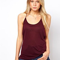 ASOS Premium Silk Mix Cami with Skinny Straps at asos.com