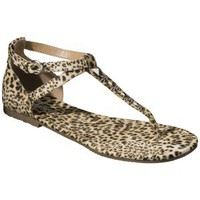 Women's Mossimo Supply Co. Okal Thong Sandal with Studs - Animal Print