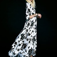 Free People First Kiss Print Maxi Dress