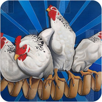 DENY Designs Home Accessories | Ryan Rice Fine Art Chicken Cordon Blue Wall Art