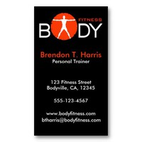 Body Madness Personal Trainer Business Cards from Zazzle.com