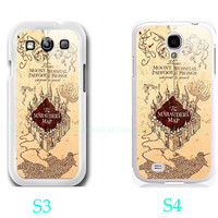 Harry Potter marauder's map Photo-Samsung Galaxy S3 ,Samsung Galaxy S4 ,you can choose S3 or S4-includes screen protector and cleaning cloth