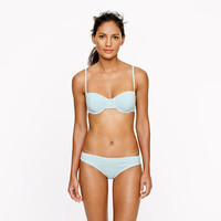 Seersucker demi underwire top - swim - Women - J.Crew
