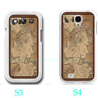 Game of thrones map-Samsung Galaxy S3 ,Samsung Galaxy S4 ,you can choose S3 or S4-includes screen protector and cleaning cloth