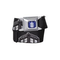 Doctor Who Black TARDIS Seat Belt Belt | Hot Topic