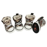 Como Size 2 Pet Brown Beige Camouflage Prints Sneaker Boots Dog Shoes 4 Pcs:Amazon:Pet Supplies