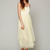 Free People Painted Lady Maxi Slip