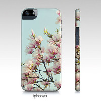 samsung galaxy S3,iphone4, 4 case- pink magnolias from Chic cases