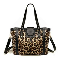 Leopard Print Shoulder Bag