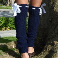 Over-the-Knee Crochet Leg warmers by Mademoiselle Mermaid
