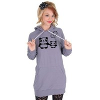 Panda Love American Apparel Hoodie Dress Tunic:Amazon:Everything Else