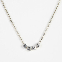 Urban Outfitters - Word Block Necklace
