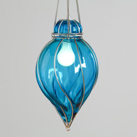 Blue Glass Venetian Pendant