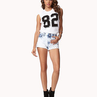 Acid Wash Studded Cut Offs | FOREVER 21 - 2035814390