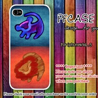 Twin lion king on wall aztec :Case For Iphone 4/4s ,5 / Samsung S2,3,4