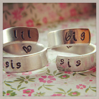 big sis/lil sis  -the original sisters forever spiral rings