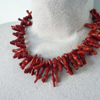 Nautical Beachy Coral Necklace