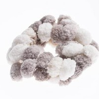 Cute Hair Tie with Brown and White Clusters