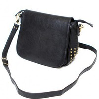 Brandy ♥ Melville |  Leather Satchel with Cone Studs - Accessories