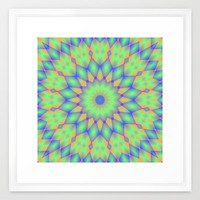 Tricolor Mandala Framed Art Print by Lyle Hatch