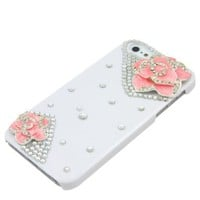 3D Bling Crystal IPone 5 Case for Lovely Apple iPhone 5 fashion case (White):Amazon:Appliances