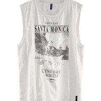 Sleeveless T-shirt - from H&M