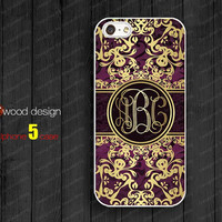 Monogram floral silicone rubber  Iphone 5 case unique case Hard case soft Rubber case iphone 4 case