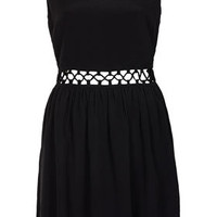 Lace Up Waist Mini Sun Dress - Dresses  - Clothing