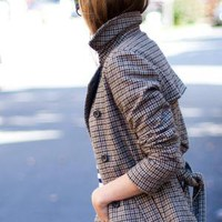 EmersonMade. ~ Travelling Coat - Big Hound Wool Tweed