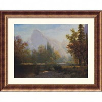 Great American Picture Half Dome, Yosemite Bronze Framed Print - Albert Bierstadt - 109972-Bronze - All Wall Art - Wall Art & Coverings - Decor