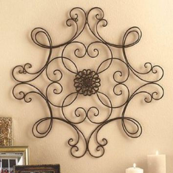 Square Scrolled Metal Wall Medallion Decor:Amazon:Home & Kitchen