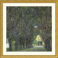 Great American Picture Allee im Park von Schloss Kammer Gold Framed Print - Gustav Klimt - 109994-Go - All Wall Art - Wall Art & Coverings - Decor
