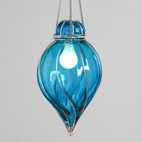 Blue Glass Venetian Pendant | World Market