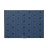 Blue and Black Triangles iCase for iPad Mini from Zazzle.com