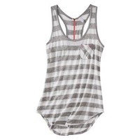 Xhilaration® Juniors Striped Racer Tank with Zip Back - Assorted Colors