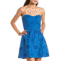 Eyelet Lace Tube Dress: Charlotte Russe