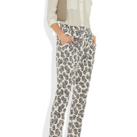Stella McCartney | Christine African floral-print silk tapered pants | NET-A-PORTER.COM