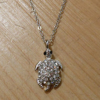 Tiny Silver Sea Turtle Necklace | Candy's Cottage